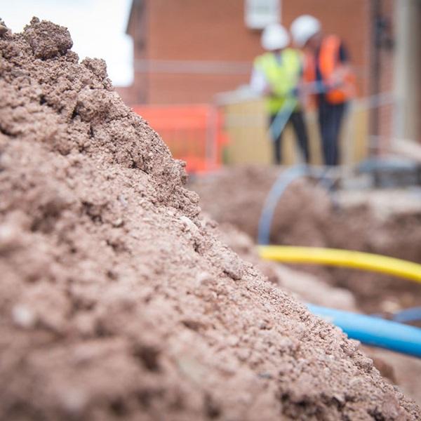 Building site excavation